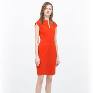 Tangerine Zara Woman Sheath Dress